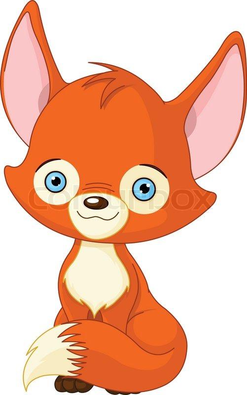 Cute baby fox : foxes  |Vector Cute Baby Fox