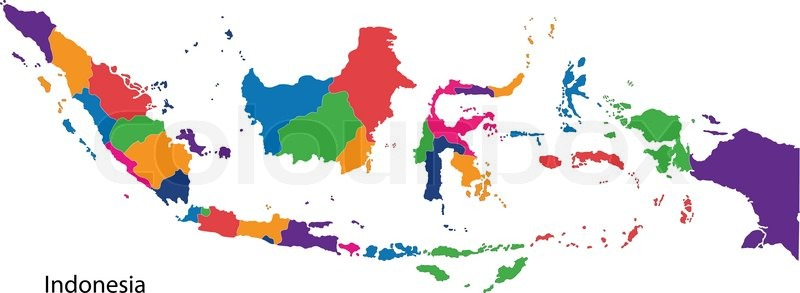 Map Of Administrative Divisions Of Indonesia Stock Vector - Map indonesia