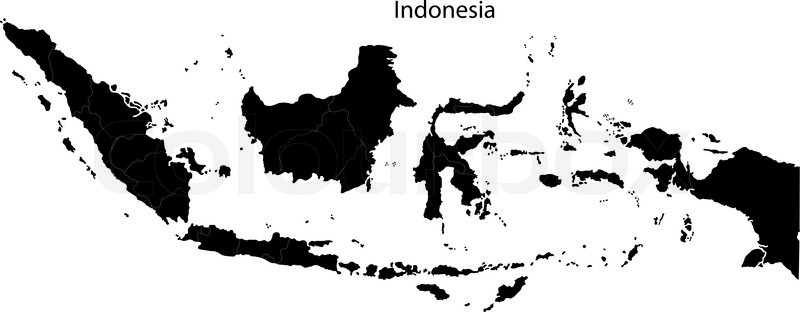 Black Indonesia Map Stock Vector Colourbox - Indonesia map