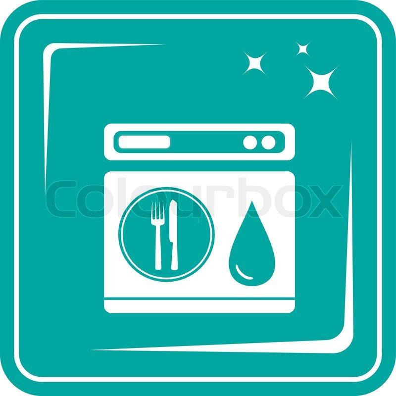 Symbol Geschirrspüler symbol  Vektorgrafik  Colourbox ~ Geschirrspülmaschine Zeichen