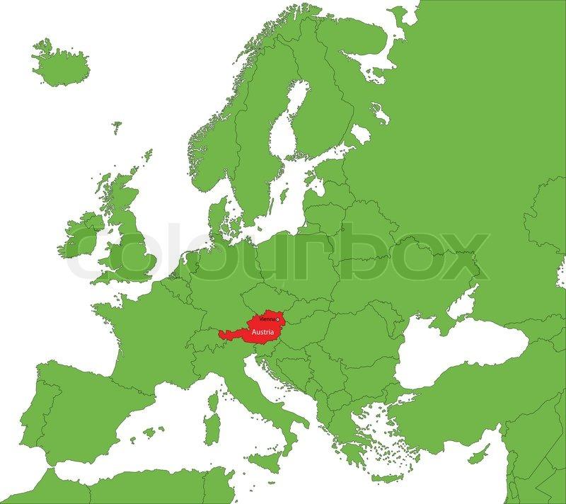 Kort Over Ostrig Stock Vektor Colourbox
