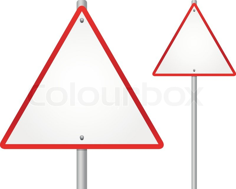 blankempty triangle highway road sign royalty free