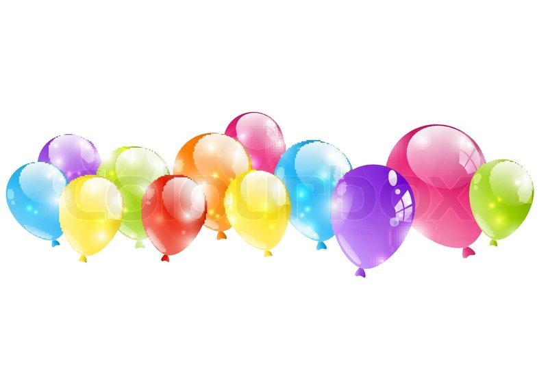 Shiny balloon border on white stock vector colourbox thecheapjerseys Gallery
