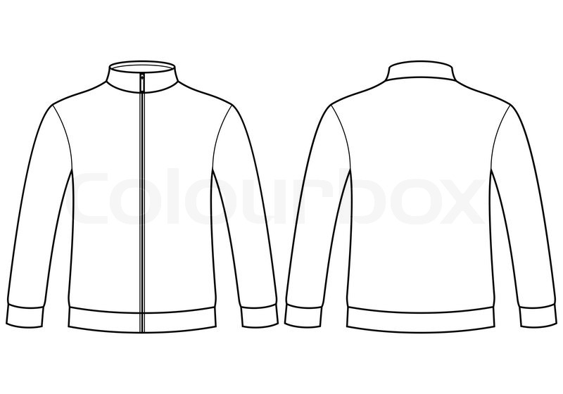 ... Outline Blank sweatshirt template isolated on white background