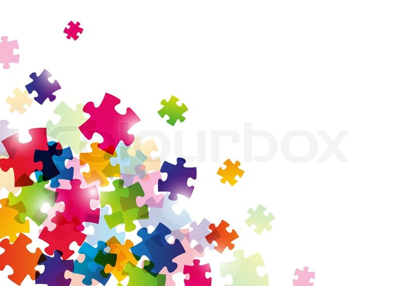 color puzzle background for your