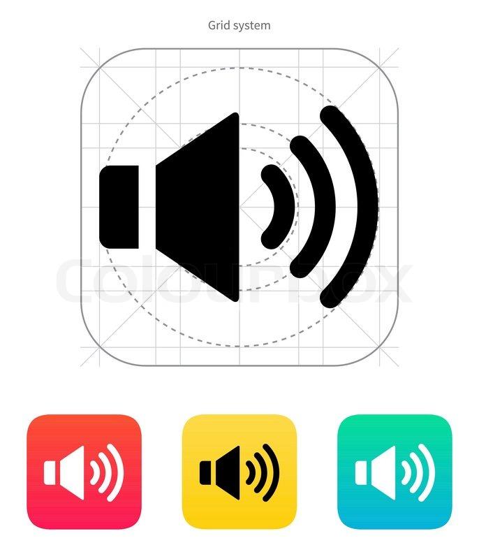 Lautsprecher-Symbol Volume max | Vektorgrafik | Colourbox