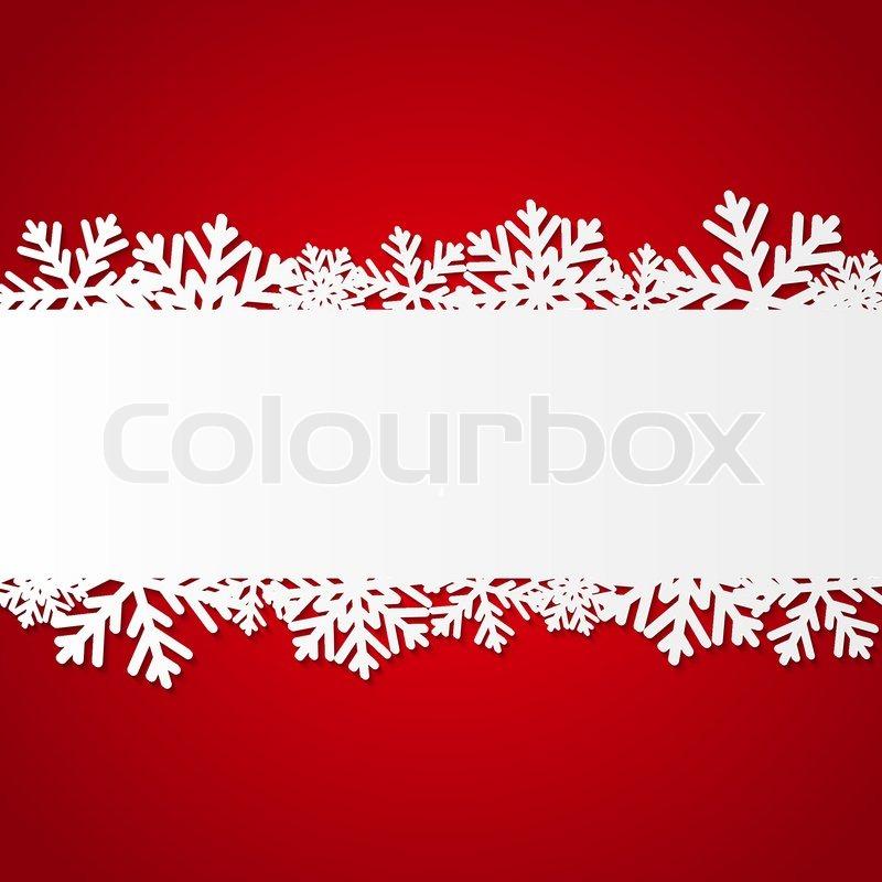 rot weihnachten hintergrund mit papier schneeflocken vektorgrafik colourbox. Black Bedroom Furniture Sets. Home Design Ideas