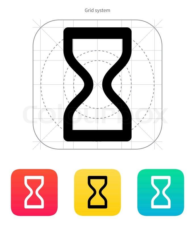 Sanduhr icon  Sanduhr tickt icon   Vektorgrafik   Colourbox
