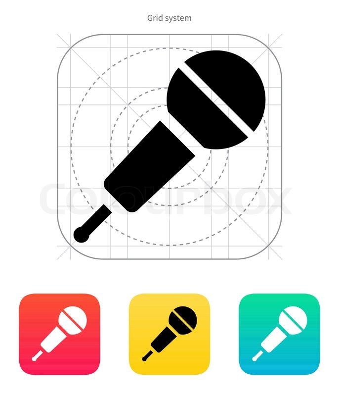 Funk-Mikrofon -Symbol | Vektorgrafik | Colourbox