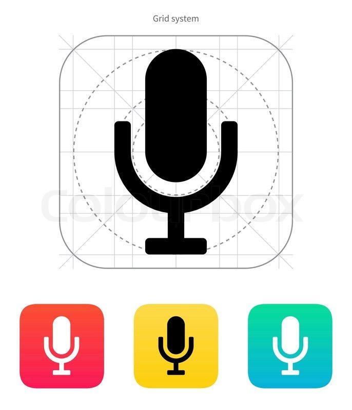 Mikrofon -Symbol | Vektorgrafik | Colourbox