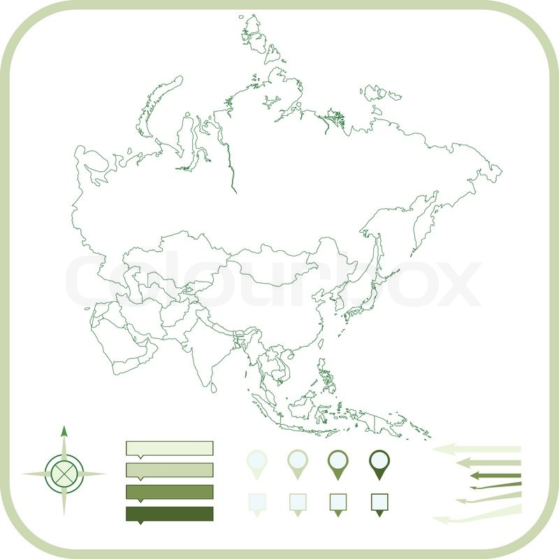 Stock vector of 'Asia Map, Vector illustration. '