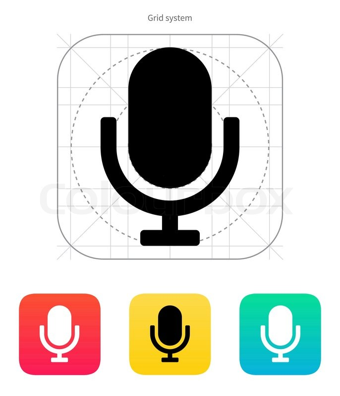 Retro Mikrofon-Symbol | Vektorgrafik | Colourbox