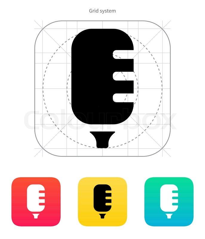 Studio Mikrofon-Symbol | Vektorgrafik | Colourbox