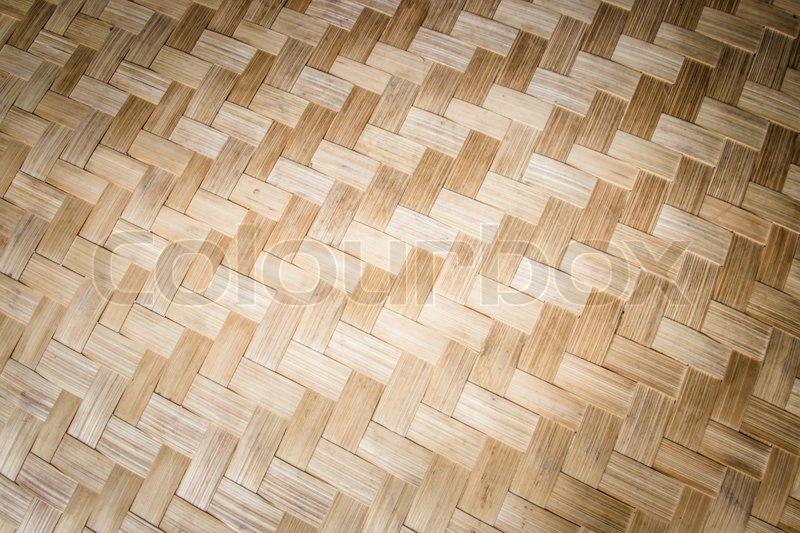 Pattern Thailand handmade work from bamboo, stock photo