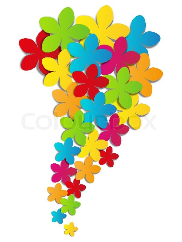 Vector illustration of color paper flowers stock vector colourbox stock vector of vector illustration of color paper flowers mightylinksfo Gallery