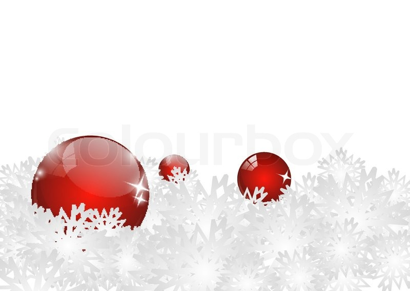weihnachten hintergrund mit roten kugeln und schneeflocken. Black Bedroom Furniture Sets. Home Design Ideas