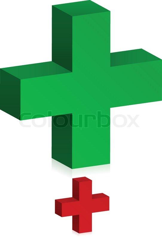 3d Plus Add Cross Signs Stock Vector Colourbox