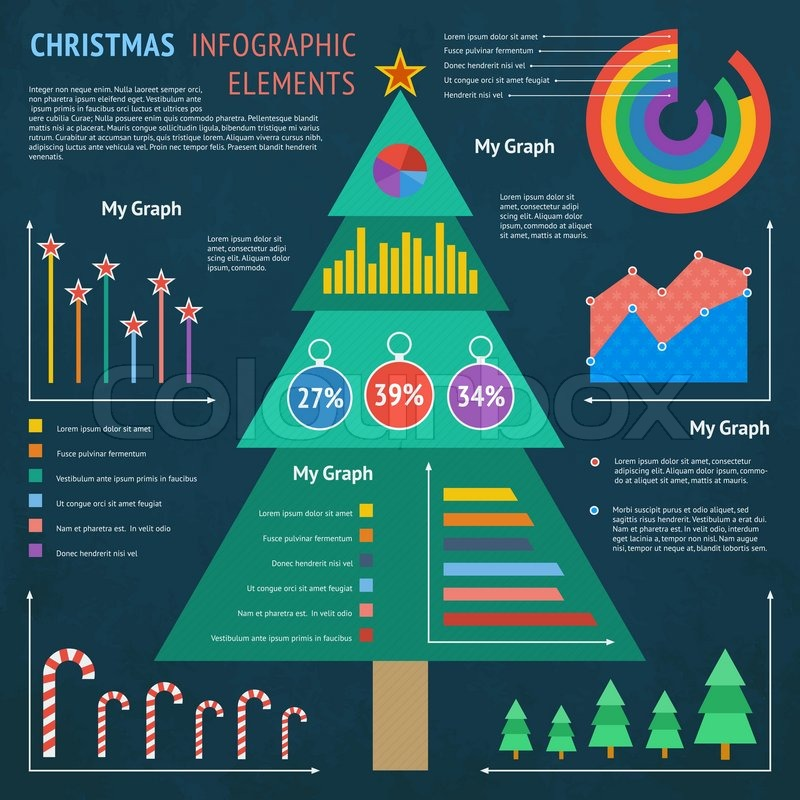 weihnachten infografik elements vektorgrafik colourbox. Black Bedroom Furniture Sets. Home Design Ideas