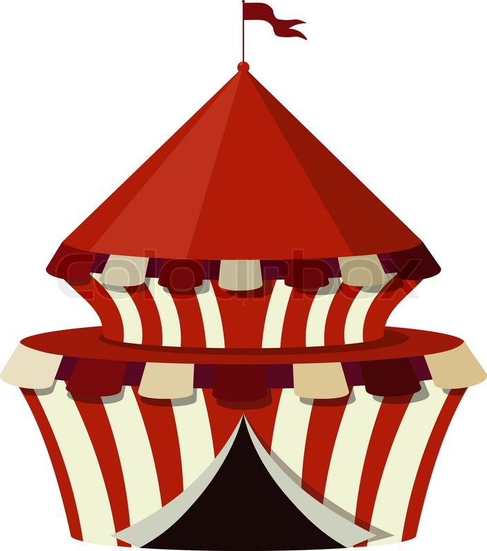 Illustration of a circus on a white background   Vector   Colourbox