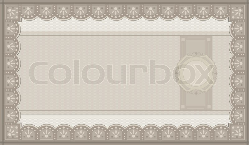 raster voucher coupon paper blank template stock photo colourbox