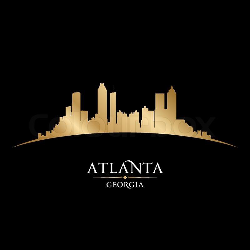 Atlanta City Skyline Silhouette Vector From www.gopixpic.com