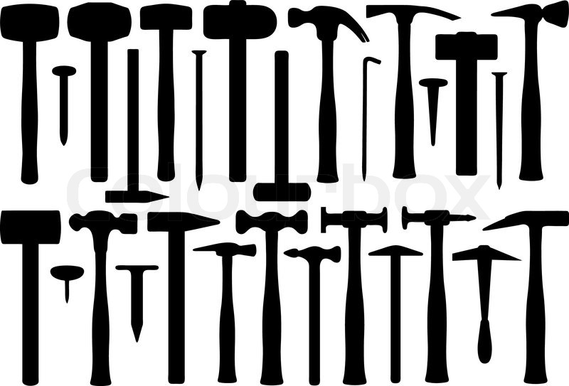 Set Of Different Hammers | Stock Vector | Colourbox