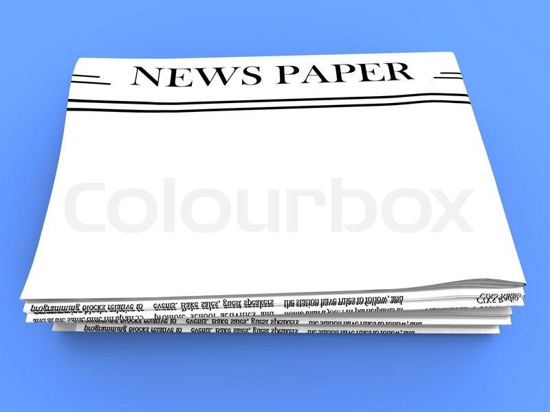 blank zeitung mit textfreiraum zeigt news medien headline stockfoto colourbox. Black Bedroom Furniture Sets. Home Design Ideas