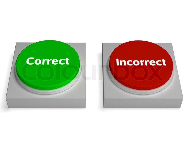 richtig falsch buttons zeigt wahr oder falsch stockfoto colourbox. Black Bedroom Furniture Sets. Home Design Ideas