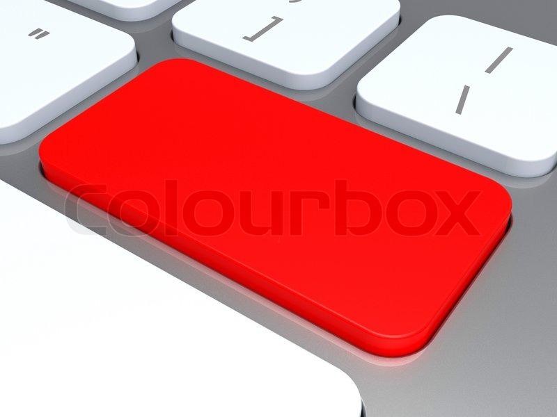 f1f93369b5e Blank Keyboard Key Zeigt Rot Leer ... | Stockfoto | Colourbox