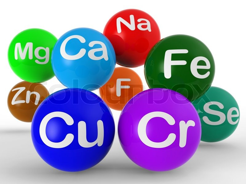 Chemical Symbols Shows Chemistry Elements And Science Stock Photo