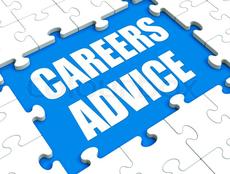 Careers Advice Puzzle Showing Employment Guidance Advising And Assistance, stock photo