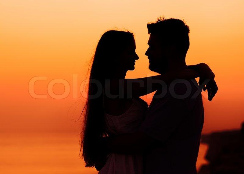 Das Bild von zwei Menschen in Liebe auf  | Stock Bild