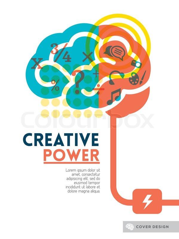 creative brain idea concept background design layout for poster stock vector colourbox