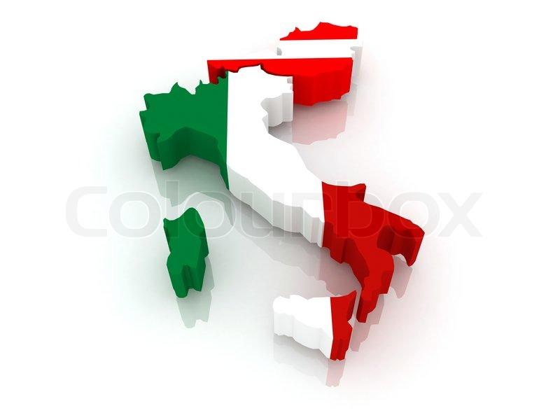 Kort Over Italien Og Ostrig Stock Foto Colourbox