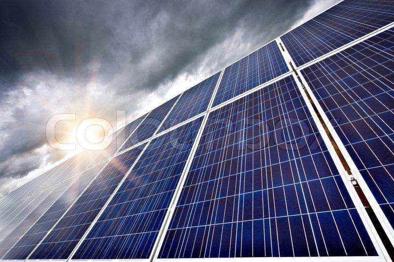 Futuristic Concept Of Solar Panels As A Future Electrical