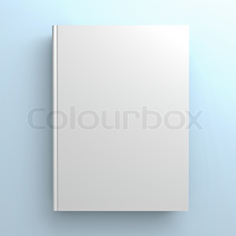Blank Book Cover Background : Blank book cover on blue background stock photo colourbox