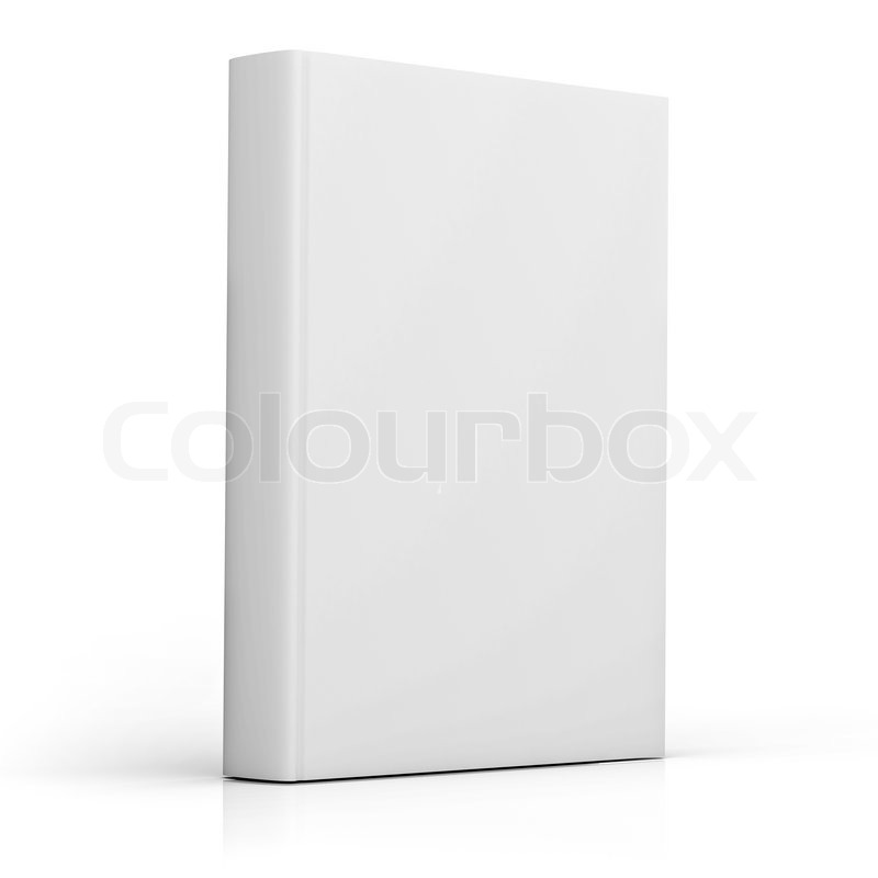 Blank White Book Cover : Blank book cover isolated over white background stock