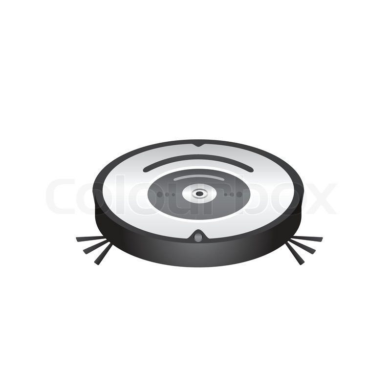 Vector Graphics Of A Robot Vacuum Cleaner Stock Vector