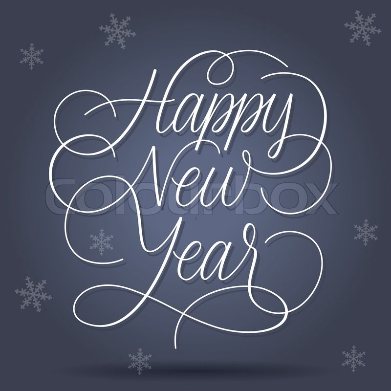 Frohes Neues Jahr Grüße | Vektorgrafik | Colourbox