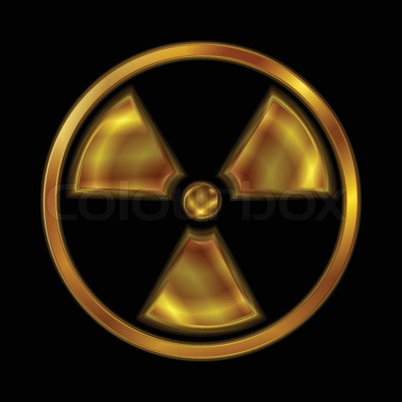 Nuclear Radiation Vector Symbol Stock Vector Colourbox