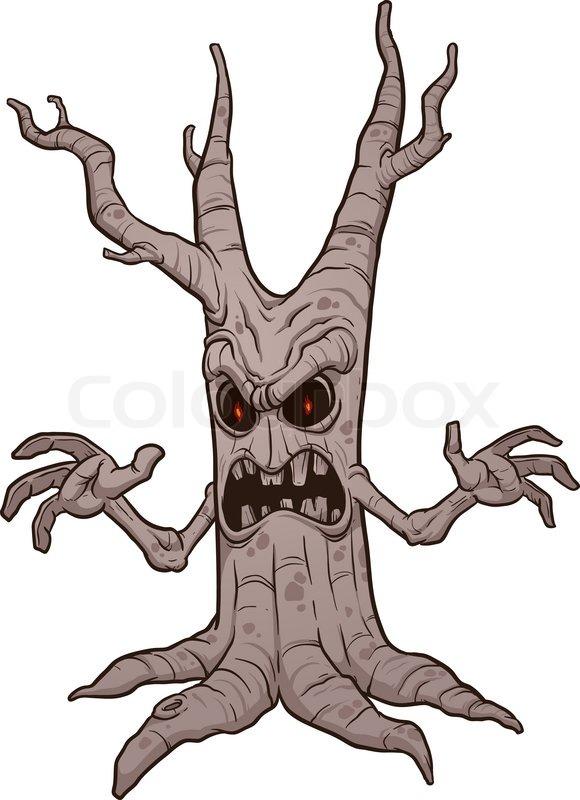 Scary Halloween Tree Vector Clip Art Stock Vector Colourbox New users enjoy 60% off. scary halloween tree vector clip art