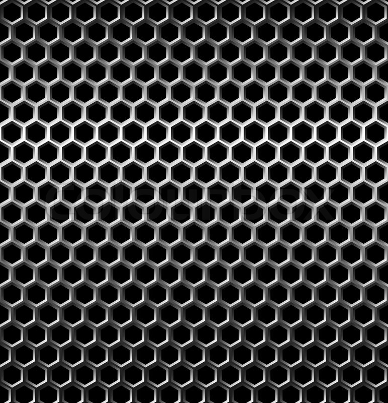 Seamless Texture Metal Grid Background Stock Vector