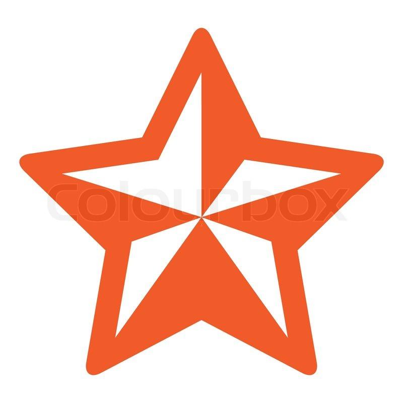 Einfacher orange weihnachtsstern | Vektorgrafik | Colourbox