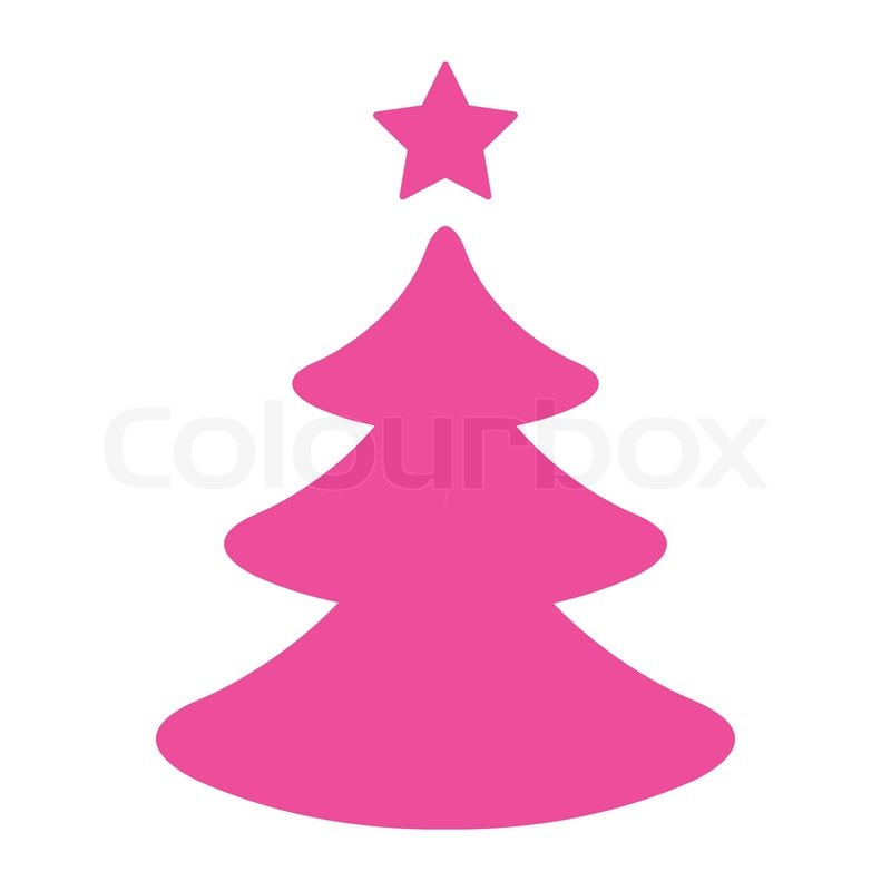Tannenbaum Pink.Simple Pink Christmas Tree Stock Vector Colourbox