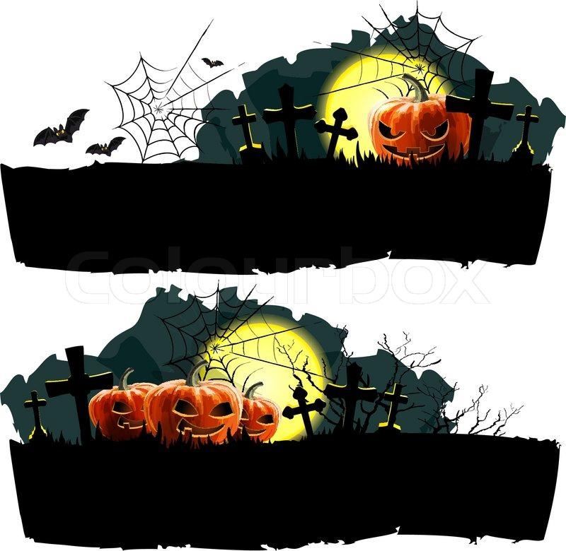 Halloween Vectors halloween vector owl cat spider web much more Halloween Vector Banner Set Vector