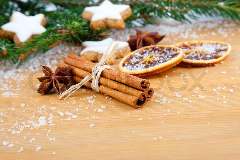 Cinnamon Christmas Cookies With Stock Image Colourbox