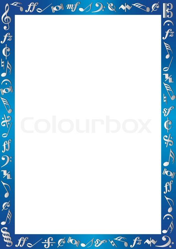 White Background With Bluemetallic Border An Silver