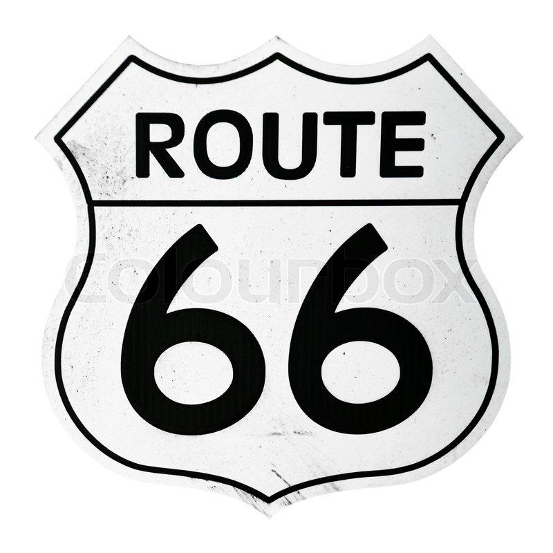Route 66 Sign Stock Photo Colourbox