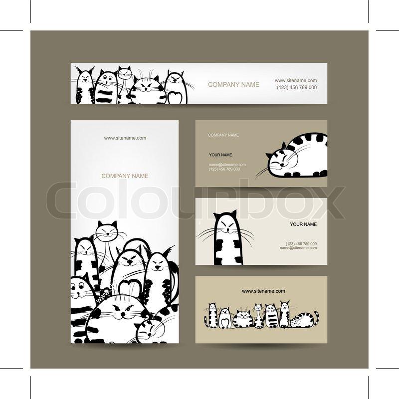 Corporate design visitenkarten mit lustigen gestreiften - Lustige visitenkarten ...