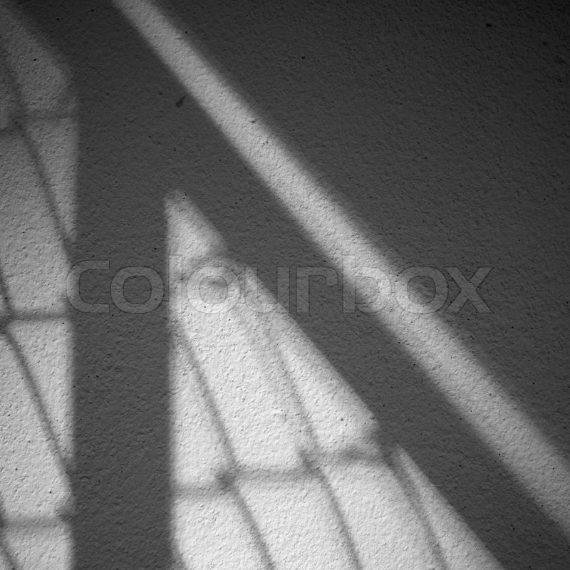 Light and shadow on the wall, stock photo